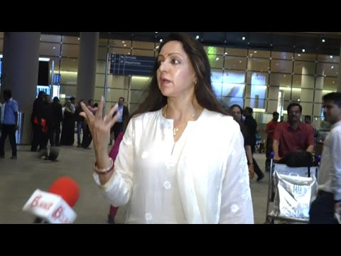 ANGRY Hema Malini INSULTS Reporter At Airport