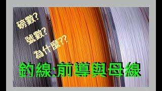 【LH2】釣魚不是只用一條線!-母線與前導的選擇?! (Main line and leader)