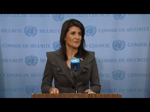 Nikki R. Haley (USA) on Priorities for the New Year - Media Stakeout (2 January 2018)