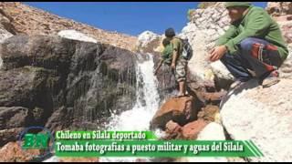 Chileno es encontrado fotografiando Aguas del Silala y puesto militar de Bolivia