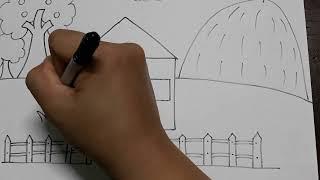 Vẽ ngôi nhà. Vẽ cùng cô Mai Thi
