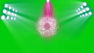 Stage lighting greenscreen