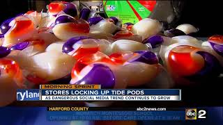 Tide Pod challenge drives stores to lock the detergent up