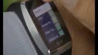 Video del movil pulsera en movimiento (LG GD910)