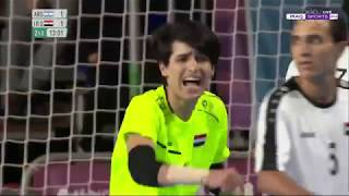 الشوط الثاني من مباراة (كرة الصالات ) اولمبياد الأرجنتين بين العراق والأرجنتين