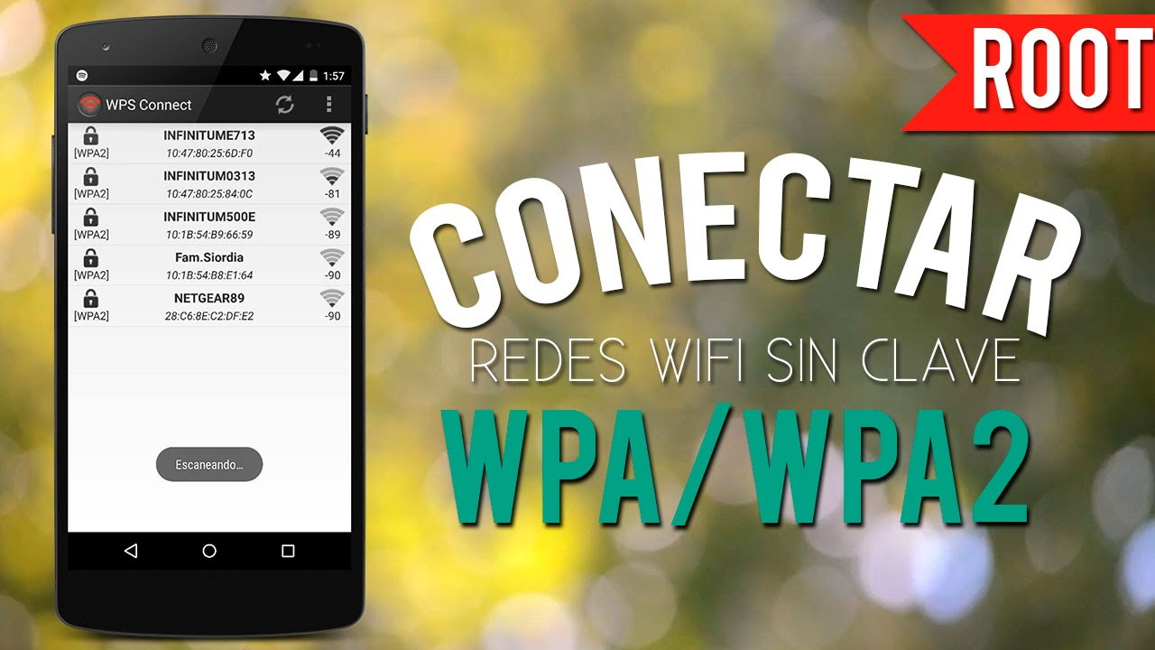 Hackear Claves Wifi WPA/WPA2 Root (WPS CONNECT)