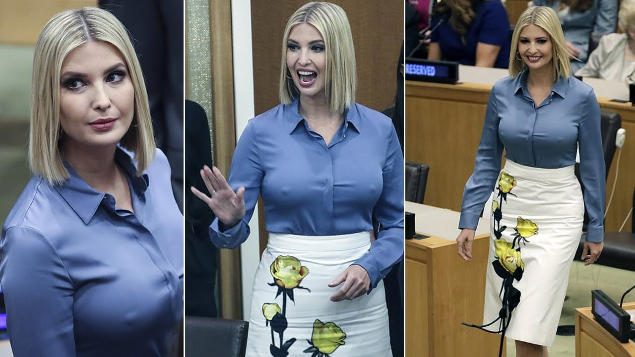 Ivanka Trump appears to go braless while attending the UN General ...