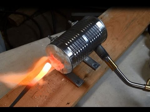 Home Made Soup Can Forge - 2000+ degrees - Make your Own Too