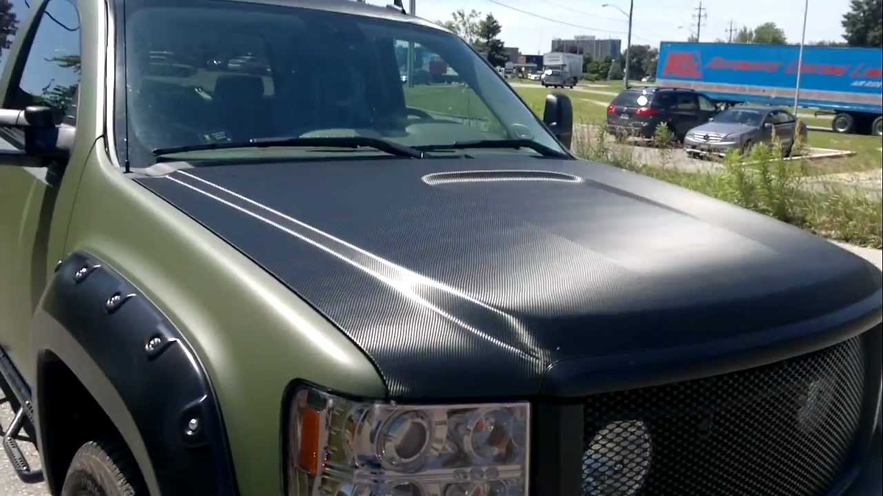 Gmc Matte Military Green Wrap Restyle It Restyleit