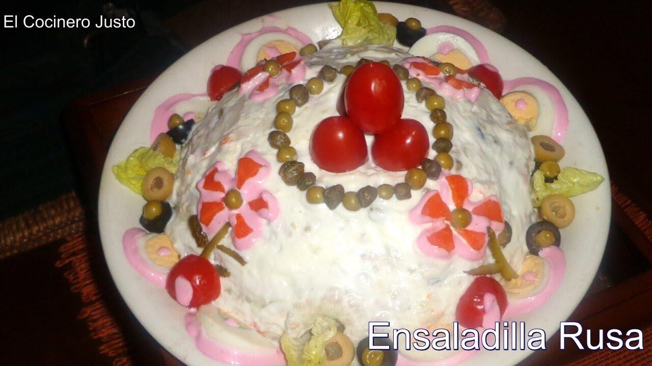 Ensaladilla rusa otra forma de presentar y decorar esta for Decoracion de ensaladas