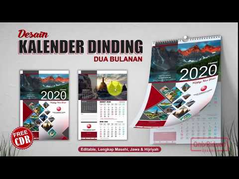 Cara Desain Kalender Dinding 2020 Dengan CorelDRAW - Calendar Template