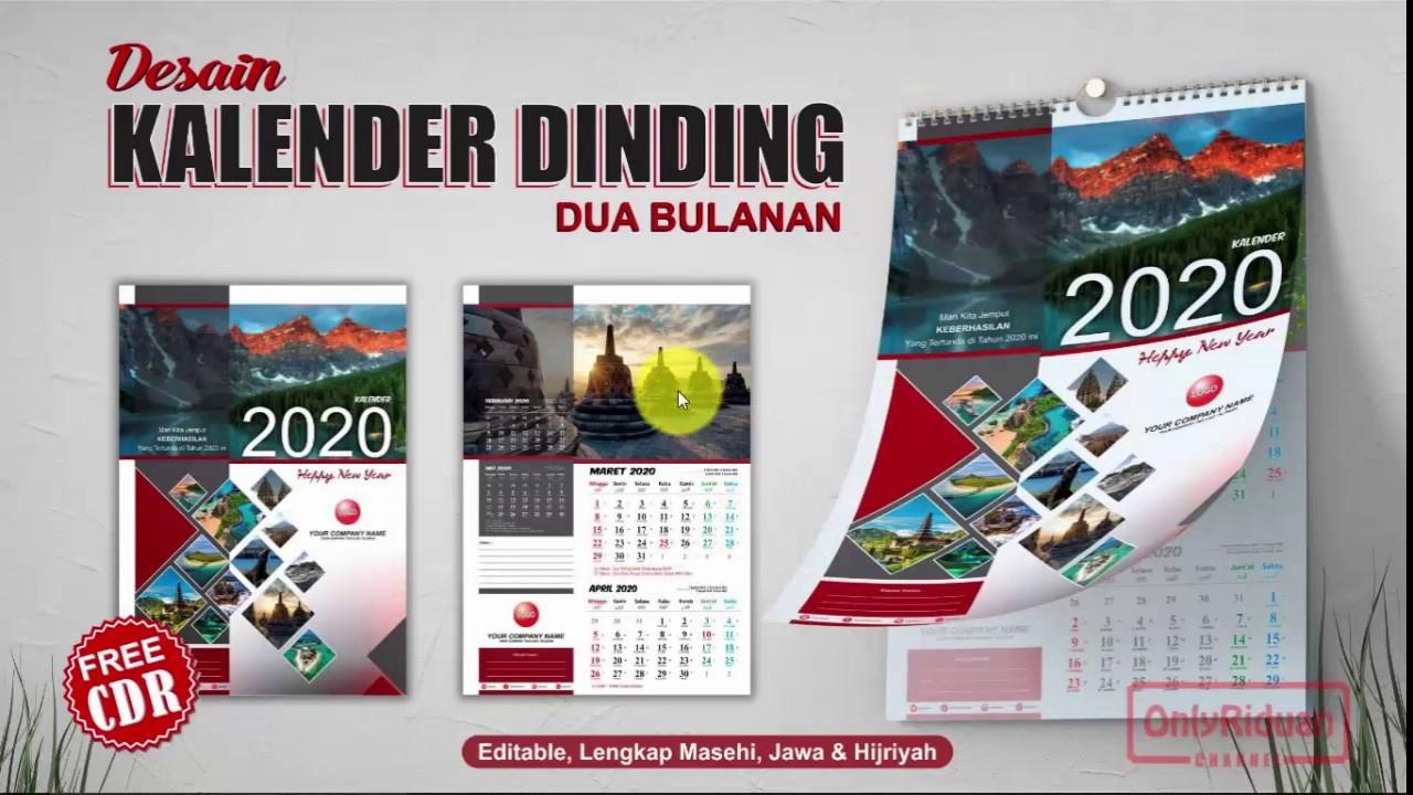 Cara Desain Kalender Dinding 2020 dengan CorelDRAW ...