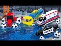 Street Vehicles Contruction Truck Assembly Water Tank Tires, Heavy Vehicles Cartoon