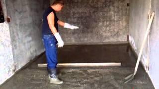Заливка бетонного пола в гараже(Первая ремонтно-строительная компания представляет очередное видео из цикла
