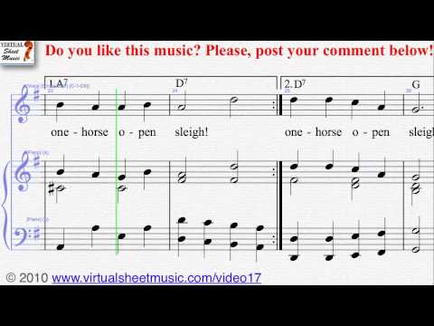 Jingle Bells voice and piano Sheet Music - Video Score