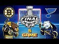 Сент-Луис Блюз - Бостон Брюинз. Финал. Игра 5 | St  Louis Blues vs Boston Bruins. Final. Game 5