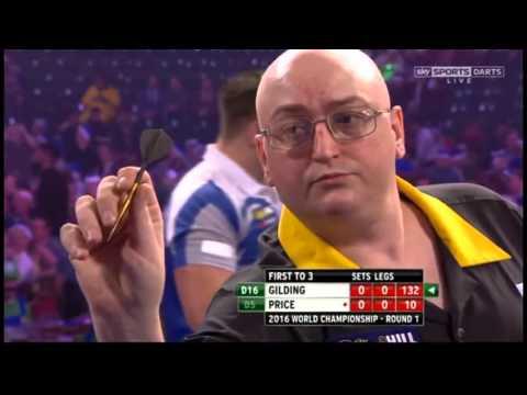 Gilding 132 checkout 2016 PDC World Darts Championship Round 1