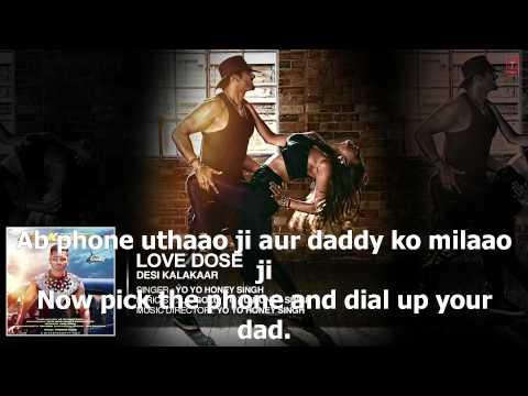 Exclusive  Love Dose Yo Yo Honey Singh   English Translation