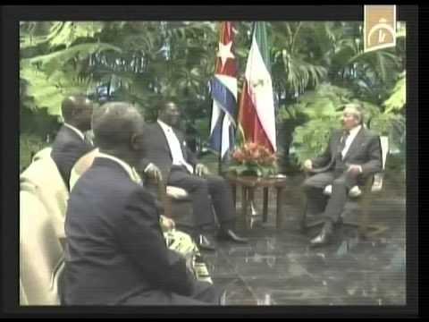 Recibió Raúl al Presidente de la República de Guinea Ecuatorial