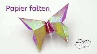 Basteln mit Papier: Schmetterlinge falten / Origami Butterfly