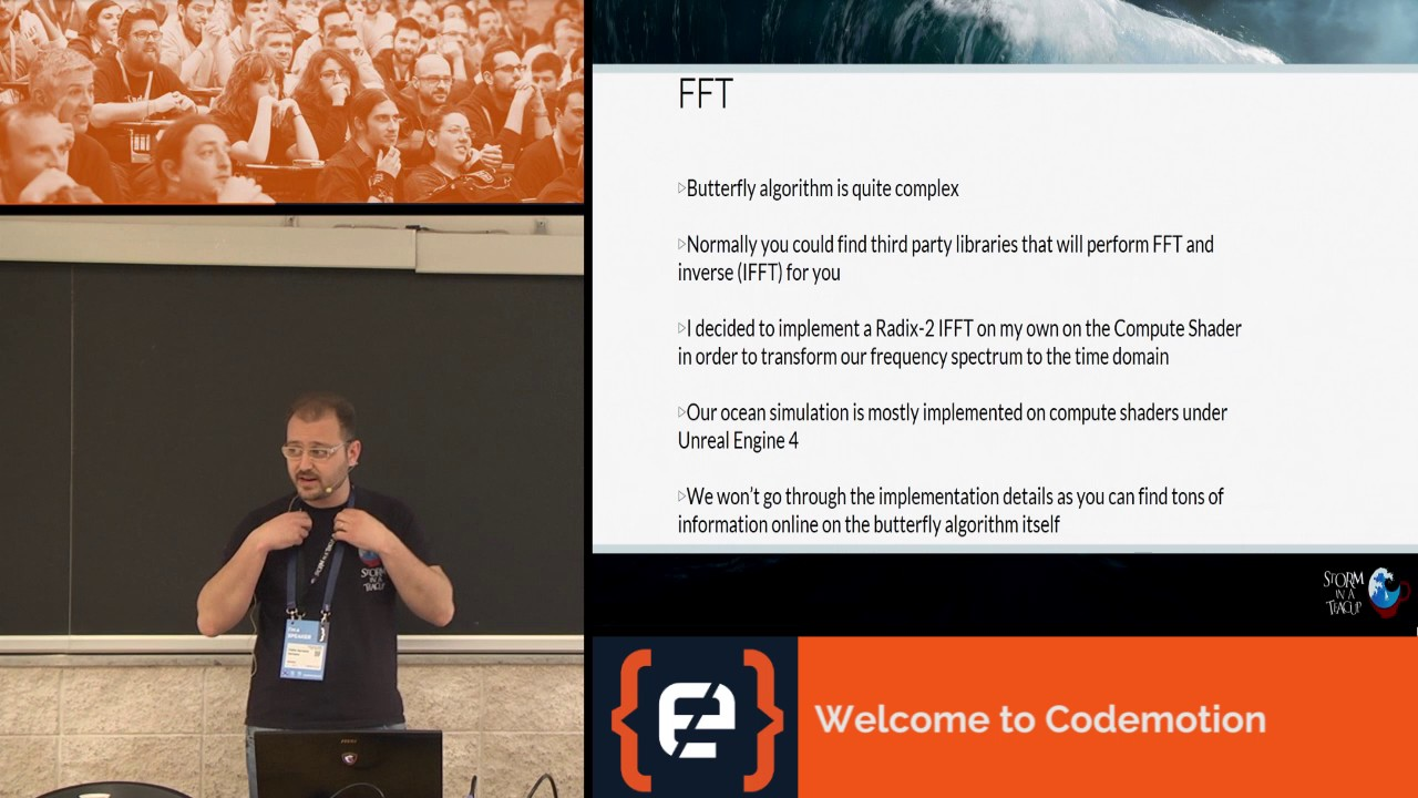 An introduction to Realistic Ocean Rendering through FFT - Fabio Suriano -  Codemotion Rome 2017 – Watch Video @ Dev Tube