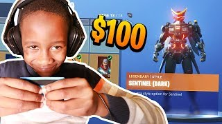 Kid Spends $100 On Season 9 *MAX* Battle Pass With Brother's Credit Card (Fortnite)