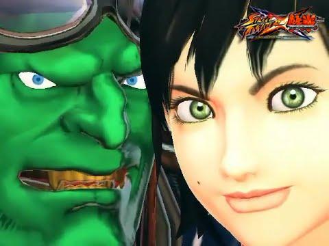 [PC] Street Fighter X Tekken - Playthrough As Sakura&Blanka With Costume MOD.