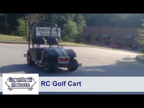 Remote Controlled Golf Cart