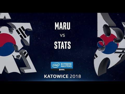 StarCraft II - Maru [T] vs. Stats [P] - UB Ro4 - B1 - IEM Katowice 2018