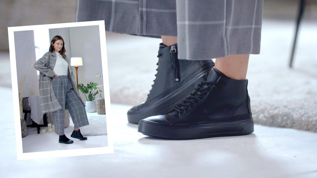 How to Wear   ECCO Flexure T CAP High Top Sneakers