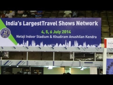 Largest Travel And Tourism Fair of India - TTF 2014 AT Calcutta (Kolkata) HD Video