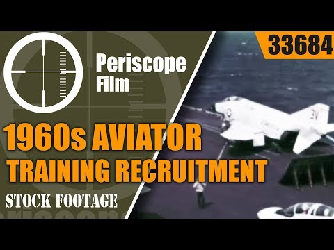 U.S. MARINE CORPS 1960s AVIATOR TRAINING  RECRUITMENT FILM  33684