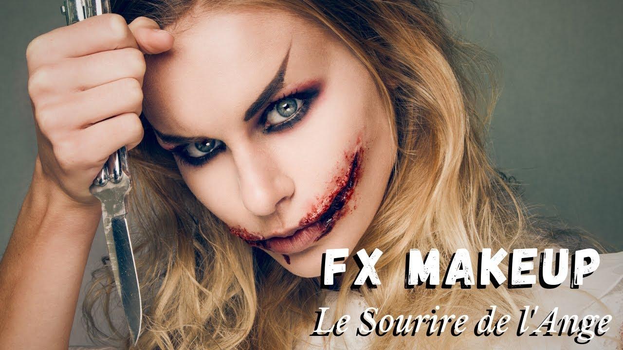 Maquillage tutoriel effets spéciaux sourire de l\u0027ange et regard sombre ,  YouTube