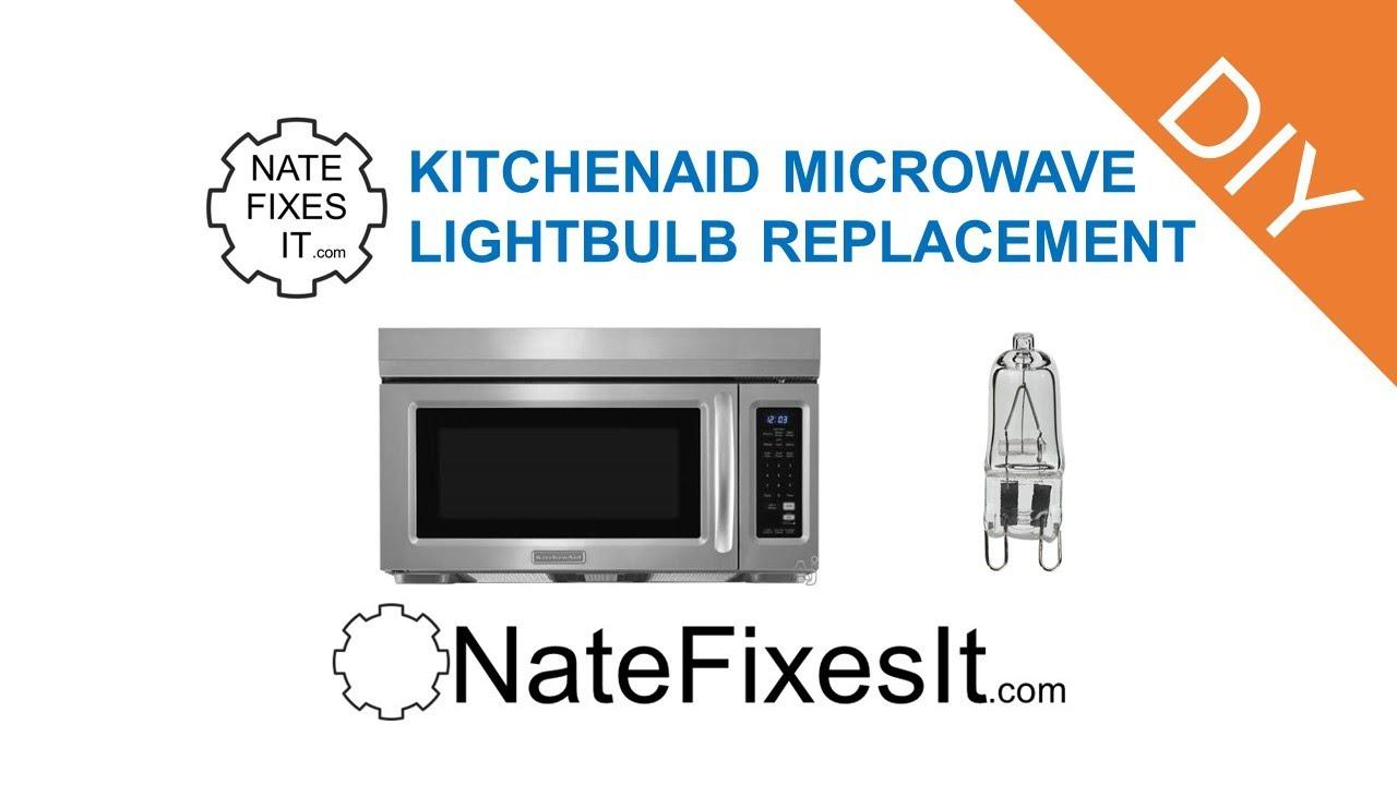 whirlpool microwave replace light bulb