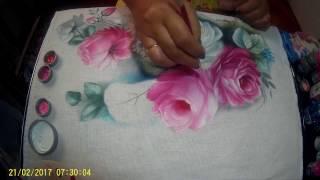 Pintando Rosas em Tecido – Parte 1