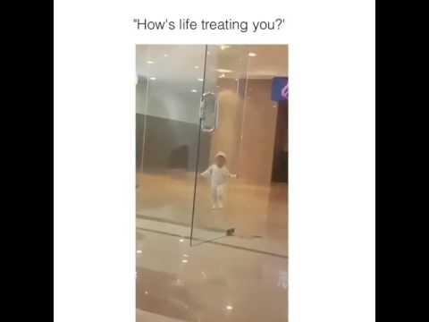 Baby Runs Into Glass Door Youtube
