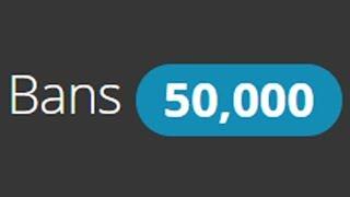 50,000 MINECRAFT SERVER BANS!