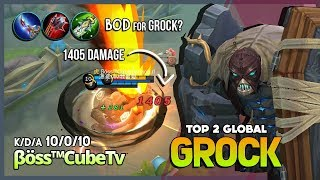 Super Annoying Grock with Blade of Despair? βöss™CubeTv Top 2 Global Grock ~ Mobile Legends