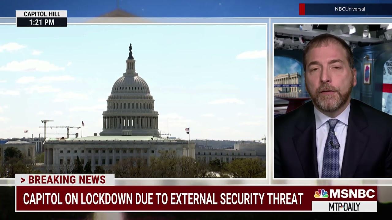 MSNBC breaking news open: April 2, 2021 Capitol car ramming