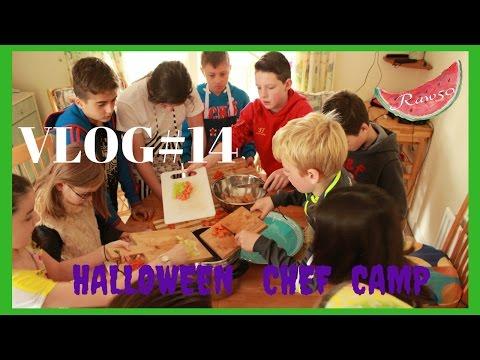 VLOG#14/Halloween Chef Camp/vegetarian cannelloni/vegan soup/