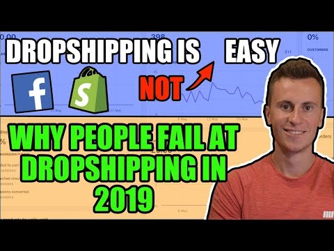 Dropshipping Is (NOT) Easy | Why MOST People Are Failing in 2019 (Beginner Mistakes) thumbnail