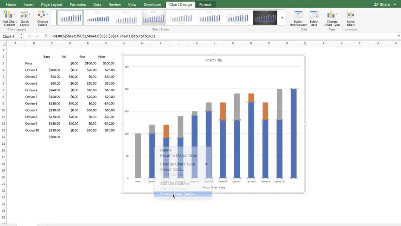 Bridge chart excel template image collections templates example waterfall chart using excel pre 2016 youtube waterfall chart using excel pre 2016 alramifo image collections ccuart Image collections