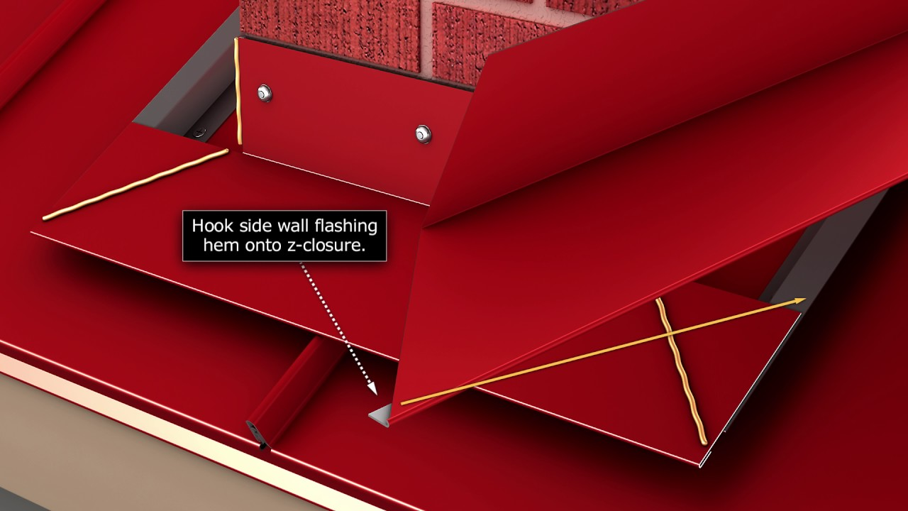 How To Install Standing Seam Metal Roofing Flashing A