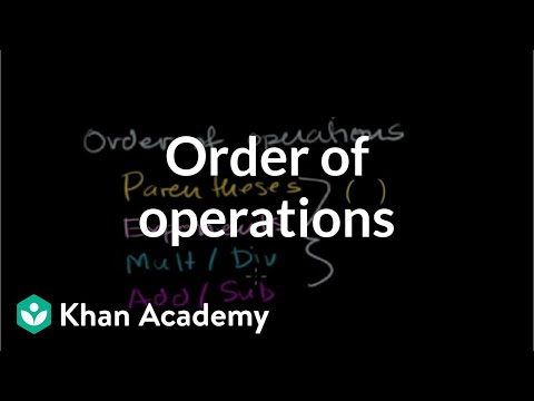 Introduction to order of operations | Arithmetic properties | Pre-Algebra | Khan Academy