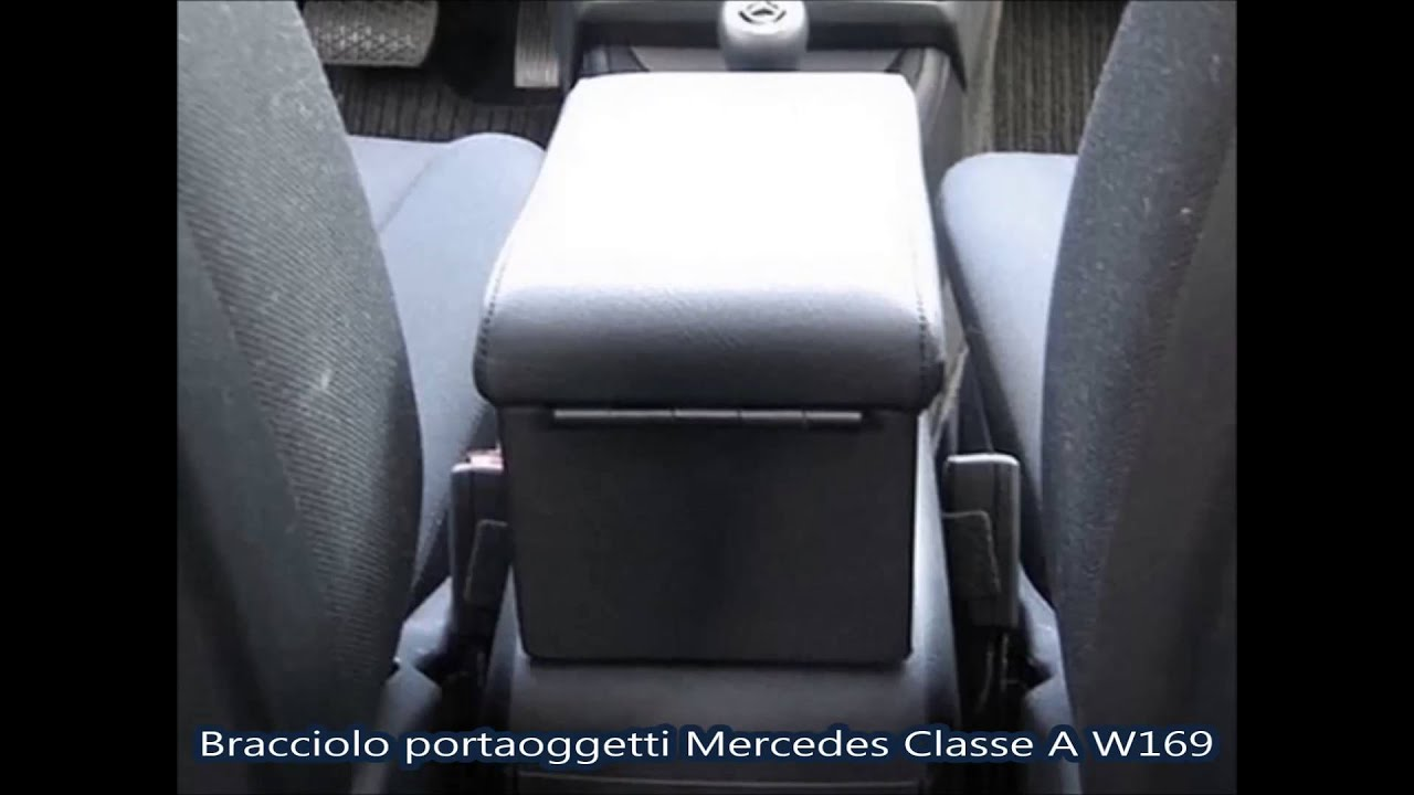 bracciolo portaoggetti per mercedes classe a w169 youtube. Black Bedroom Furniture Sets. Home Design Ideas