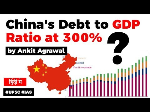 Download China's Debt to GDP Ratio at 300%, Is Chinese economy in trouble? Current Affairs 2019 #UPSC #IAS