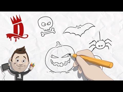 Halloween Tekeningen Maken.Tekenen In Stappen 1 Halloween Tekeningen Maken Youtube