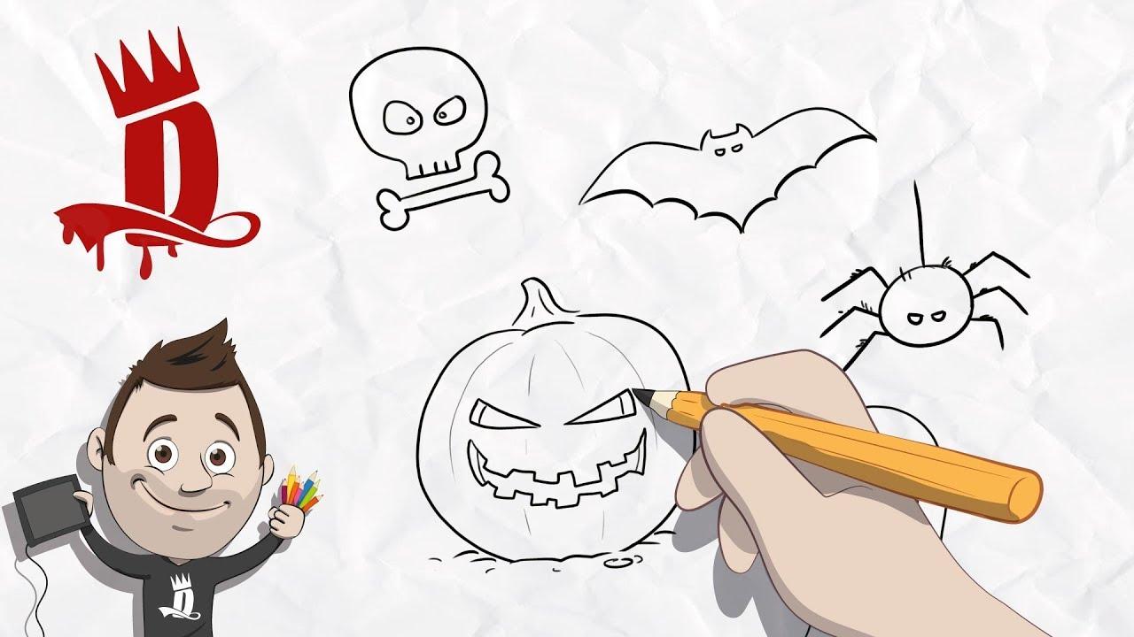 Halloween Tekeningen Maken.Tekenen In Stappen 1 Halloween Tekeningen Maken