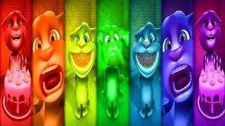Говорящий КОТ ТОМ 🐱🐱🐱 Цветные Томы Семь цветов радуги   Развлекательное видео для детей
