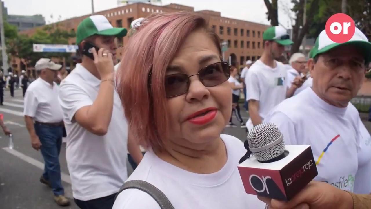 Así fue la marcha contra las marchas en Medellín
